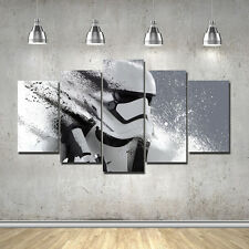 5 Piece Star Wars The Force Awakens Poster Canvas Printing with Framed