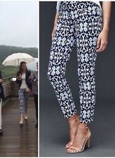 New Gap Ikat Blue Print Skinny Pants Trousers 0 ASO Celebrity Royal
