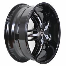 4 GWG WHEELS 22 inch Black Chrome SPADE Rims fits 5x115 ET18 DODGE MAGNUM 2005