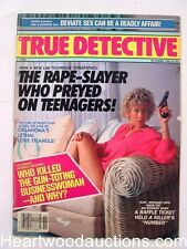 """True Detective"" November 1988 Bad Girl with Gun Cover"