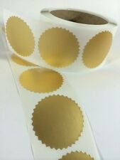 """250 2"""" Certificate Wafer Seals Labels Awards Legal Embossing Stickers Craft NEW"""