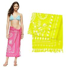 JUICY COUTURE BEACH TOWEL COVER UP SARONG YELLOW NEW