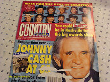 Johnny Cash Covers Country Weekly Magazine 1997 Deana Carter