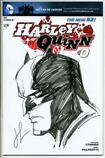 HARLEY QUINN #0 VARIANT SIGNED & BATMAN SKETCH BY CHAD HARDIN DC NEW 52 SDCC NM
