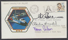 STS-6 Launch Cover signed by 3 Shuttle Directors: O'Hara, Henschel and Carlson