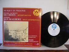 Musique a la Cour De Bruxelles Sous Charles De Lorraine, De Croes, Van Maldere