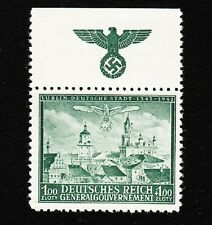 Germany Poland General Government Michel 95 MNH Lublin Eagle Swastika Selvage E