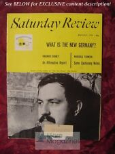 Saturday Review March 9 1963 GUNTER GRASS VIRGINIUS DABNEY MARSHALL FISHWICK