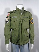 NWT RALPH LAUREN D&S Military/Field Cotton/Patches Jacket, Army Green size XXL