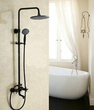 "New Oil Rubbed Bronze 8"" Rain Shower Faucet Head Wall Mount Bath Tub Mixer Tap"