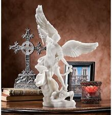 Archangel St. Michael Strong and Brave Bonded Marble Angel Sculpture Statue NEW
