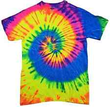 Tie Dye T-Shirts Multi-Color Kids & Adult 100% Cotton Colortone-Gildan