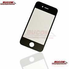 Para Apple iPhone 4s pantalla vidrio cristal Glass LCD Window frontglass negro