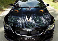 Owl Full Color Graphics Adhesive Vinyl Sticker Fit any Car Hood #131