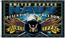 Strike Force 3X5' FLAG  Military US Navy Service Eagle Freedom New