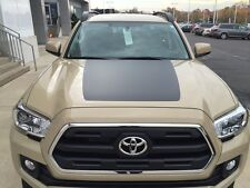 TOYOTA TACOMA 2016 -17 Front Hood Decal Inlay BLACKOUT Graphic Matte Black Vinyl