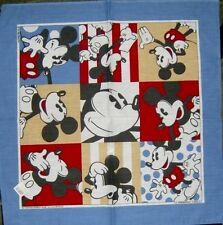 Disney...Mickey Mouse.. RETRO FUN Handkerchief Hankie BANDANA, MINT