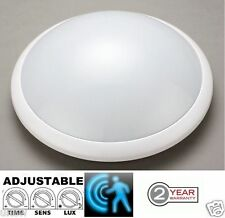 WHITE Bulkhead Microwave Sensor Light with high-frequency electro-magnetic wave