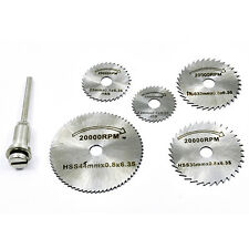 6x Mini HSS Circular Saw Disc Cutting Blades w/ Mandrel for Rotary Tool Newest