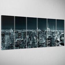 QUADRO MODERNO - Città New York Skyline America - Arredamento casa bar 200x70cm
