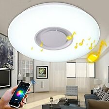 24W LED RGB Music Ceiling Light Shade Lamp Bluetooth Speaker APP Remote Control