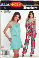 SIMPLICITY SEWING PATTERN 1142 MISSES SZ 6-24 JUMPSUITS IN TWO LENGTHS & STYLES
