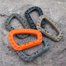 5Pcs Outdoor Carabiner Key Chain Buckle D-Ring Camping Clip Hook  Snap Plastic