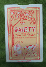#D251.  PACK OF PLAYING CARDS - LADY MODEL THEME, GAIETY(red box)