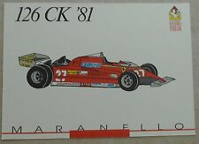 FERRARI Galleria 1993 126ck f1 1981 Scheda Card brochure prospetto book libro Press