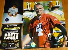 GREEN BAY PACKERS BRETT FAVRE 4 SIGNED LIMITED ED PRACTICE JERSEY 8x10 PHOTO COA