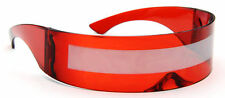 Futuristic Mirror Sunglasses Cyclops Red Shield Designer Fashion Style