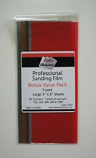 Professional sanding Film for Lapping, Grit 150-1000, plastic, pmc, wood, metal