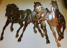 Running Free  Small Western Metal Wall Art Decor by HGMW