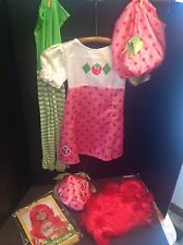 Strawberry Shortcake Kids Size Sm Halloween Costume With Wig, Purse Hat