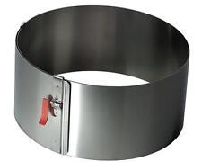 Lares Tortenring mit Klemmhebel Höhe 10 cm - Edelstahl hitzebeständig fixierbar