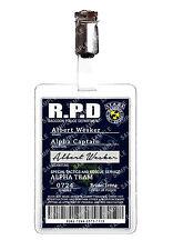 Resident Evil ID Badge Albert Wesker STARS Police Cosplay Prop Halloween