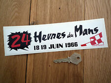 LeMans 24 Hour 1966 Classic Car Sticker Retro Vintage Racing Le Mans Du Heures