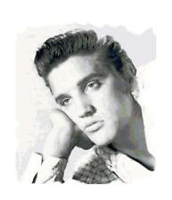 Black & White Elvis Presley Cross-Stitch Pattern Chart