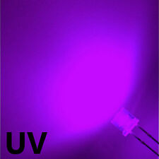 100 x 5mm UV Ultra Bright LED Light Diode Flat Top Purple Wide Angle