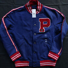 Polo ralph lauren Cotton Mixed Baseball Jacket taille xl