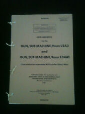 9mm Sterling SMG L2A3 L34A1 User Hand Book SAS PARAS COMMANDO FALKLANDS