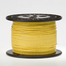 """18 AWG Gauge Stranded Hook Up Wire Yellow 250 ft 0.0403"""" UL1007 300 Volts"""
