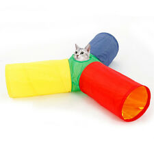 Cat Toy Tunnel Foldable Pet Kitten Rabbit Funny Play 3 Way Tunnel With Ball Toys