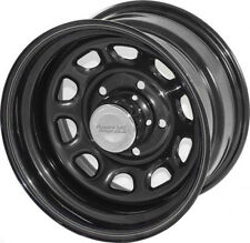 BLACK Steel Wheel 15X8 5x4.5 Jeep Wrangler FREE CENTER CAP 15500.01 Rugged Ridge