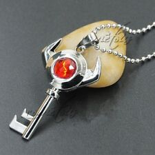 The Legend of Zelda Red Crystal Key Metal Pendant Necklace Anime Cosplay