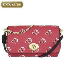 New COACH 35909 Mini Ruby Red Bramble Rose Crossbody Shoulder Bag Handbag Purse