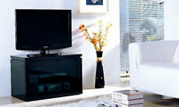Gloss Black TV Cabinet Gecko REFLECT REF800-GB LCD LED Stand Unit Plasma