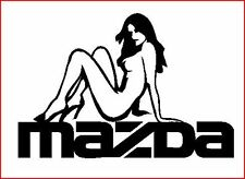 MAZDA femme sexy sur autocollant Badge,626,323, MR2 RX8, MX5 quality-awesome