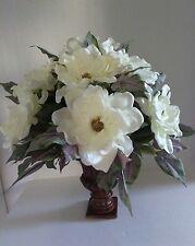 Very large magnolia centerpiece. Silk flower floral arrangements.