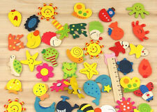 Wooden Fridge Magnet Sticker Cute Funny Refrigerator Toy (Pack of 12)